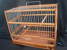 Wooden Bird Cage // Hand Crafted Bird Cage // Slide Out Tray, Plexiglas