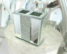 Stunning MIRRORED BOX MAKEUP BRUSH HOLDER ~ SPARKLING GLAM ~ NEW