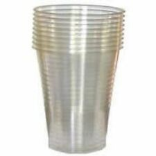 1000 Plastic Disposable Clear Cups or Drinking Glasses 7oz Free delivery