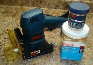 RYOBI BISCUIT JOINER MODEL DBJ50 WITH BISCUITS AS PICTURED