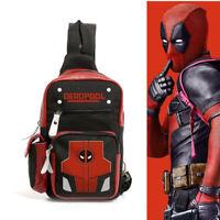 Marvel Deadpool Cosplay Shoulder Bag Backpack Crossbody Chest Casual Travel Bag