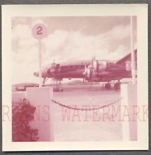 Vintage 1957 Photo Lockheed Constellation Airplane at Airport 747923