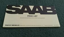 1979 1980 SAAB UK PRICE LIST 99 900 + TURBO BROCHURE September 1979