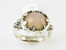 Rabinovich Denmark, Ring, Gr. 57,rosa Chalcedon facett., 925 Sterling Silber ,