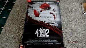 """PETE ROSE (29""""x42"""") Unsigned Reds #4192 Record Hit Baseball Movie Poster/Photo"""