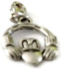 SILVER CLADDAGH RING 2 CLIP ON CHARM - TIBET SILVER - LOOK AT MY EBAY SHOP- NEW