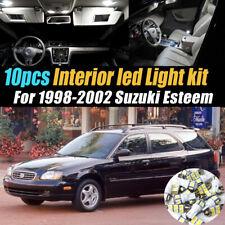 10Pc Super White Car Interior LED Light Bulb Kit for 1998-2002 Suzuki Esteem