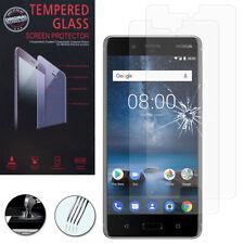 """2x Cristal Protector Nokia 8 5.3"""" real de pantalla película ENTRELAZADO"""