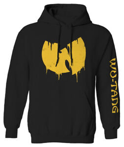 Wu-Tang Clan 'Sliding Logo' (Black) Pull Over Hoodie - NEW & OFFICIAL!