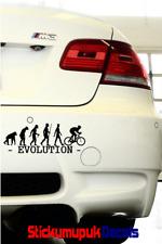 Evolución de ciclismo/Ventana O Portátil Pegatina Etiqueta de vinilo de calidad 16 Colores