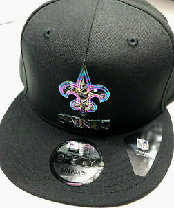 Authentic New Era 9Fifty / N.O. SAINTS / Limited Edition Metal Shield Black NWT