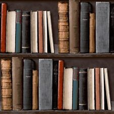 Grandeco IDECO Home Library Wallpaper Study Books Shelf Case - POB-33-01-6