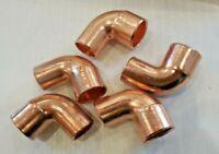 "LOT of 5 FTG x C Close Copper 90 Degree Street Elbow Nibco CS9D 5/8"" OD"