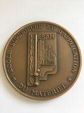 Medaille De Table ESAM ÉCOLE SUPÉRIEURE ET D'APPLICATION DU MATÉRIEL