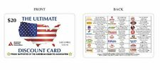 RESTAURANT DISCOUNT CARD - DISCOUNTS FOOD AT POPULAR LOCATIONS + FREE GIFT