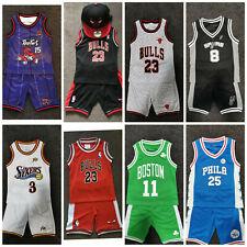 Kids Basketball Jersey SET Red Bulls #23 Michael Jordan LAKER RAPTORS