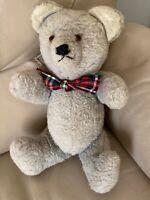 Vintage Bear Teddy Bear Soft Filled 1950s 1960s Pale Blue Mohair Glass Eyes