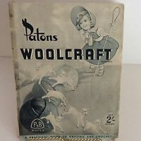 Vintage Knitting Crochet Pattern Book Patons Woolcraft 13th Edition