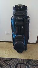 burton golf bag 7 dividers blue and black.