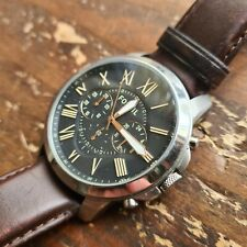 Fossil Grant Chronograph Brown Leather Watch FS4813