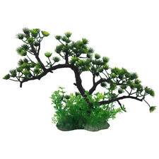 Pine Tree Green Plant Plastic Realistic Aquarium Fish Tank Decoration Ornament