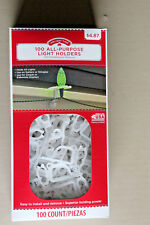LIGHT CLIPS 100 COUNT CHRISTMAS ALL PURPOSE HOLIDAY TIME NIB