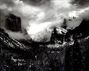 1972 1944 Ansel Adams Winter Storm Yosemite National Park Art Photo