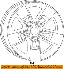 Ram CHRYSLER OEM 2013 1500-Wheel-Alloy Aluminum 1UB17GSAAC