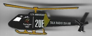 2000 2UE Sydney Olympic Pin Press Media Helicopter 15th Anniversary Talk Radio