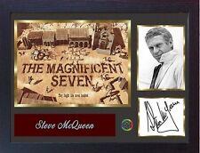 Steve McQueen signed autograph The Magnificent Seven dvd film Memorabilia FRAMED