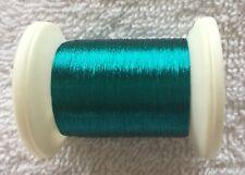Gudebrods Rod Wrapping Thread Size A #9252 Metallic Aquamarine Large Spool