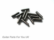 CHROME electric Guitar Bridge saddle grub screws screws pack of 12 Strat tele