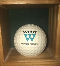 Vintage 70's Logo Golf Ball West Chemical Products Spalding