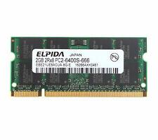 For Elpida 2GB 2RX8 DDR2 800MHz PC2-6400S 200PIN SO-DIMM Laptop Memory RHNUS