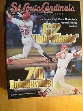 St. Louis Cardinals Magazine Commemorative 2001 Mark McGwire Record Season