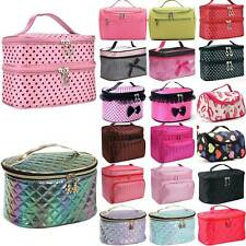 Womens Ladies Large Makeup Cosmetic Bag Case Organiser Travel Storage Box Pouch