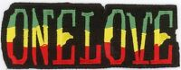 "25 Pcs RASTA ONE LOVE Embroidered Patches 1.5"" x 4"" iron-on"