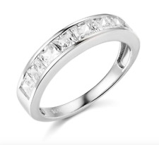 2.5 Ct Princess Cut Real 14k White Gold Engagement Wedding Anniversary Band Ring