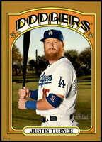 Justin Turner 2021 Topps Heritage 5x7 Gold #156 /10 Dodgers