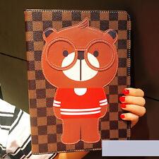 Cute 3D Bear Leather Wallet iPad 2017 2 3 4 Mini Pro Cartoon Folio Cover Case