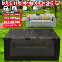 Waterproof Dustproof Patio Furniture Cover Rectangle Table Rain Covers Outdoor