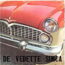 Simca vedette 1960 marché néerlandais sales brochure chambord beaulieu presidence