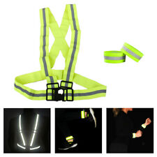 Reflective Vest with High Viz Arm Band Bracelet for Running Cycling Walking