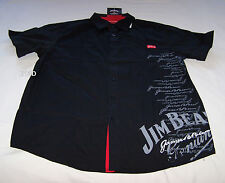 Jim Beam Authentic Mens Black Printed Short Sleeve Casual Shirt Size S New
