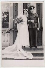 (F1044+) Orig. Foto Wehrmacht-Soldat, Hochzeit, 1940er