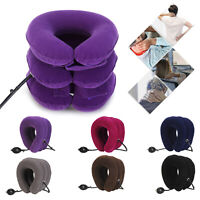 Air Inflatable Pillow Cervical Neck Head Pain Relief Traction Support Brace US