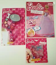 NEW Barbie Gift Set Make Up Mirror Magazine Xmas Stocking Filler FREE Post