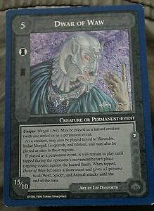 Middle Earth CCG Lidless Eye Wizards Limited Rare Card Dwar of Waw