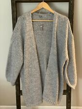 AERIE Chunky Gray Cardigan Sweater...size M