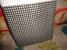 WAVERLY CHEERFUL CHECK BLACK & CREAM FABRIC 54 X 100 (2.77 YDS)